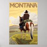Cowboy & Horse - Montana Posters