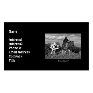 Cowboy Horse & Mule Business Card