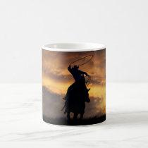 Cowboy Horse Roping Mug
