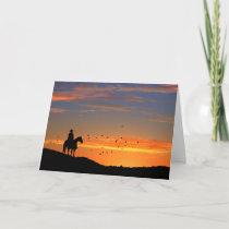 Cowboy Horse Sympathy Card