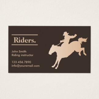Riding club business cards templates zazzle cowboy horseback riding business card yadclub Choice Image