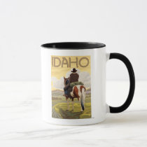 Cowboy & HorseIdahoVintage Travel Poster Mug