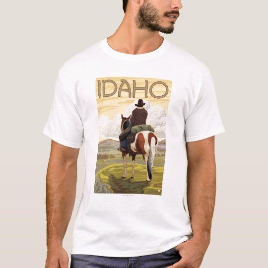 Cowboy & HorseIdahoVintage Travel Poster T-Shirt