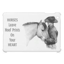 Cowboy: Horses: Hoof Prints: Pencil Drawing Cover For The iPad Mini
