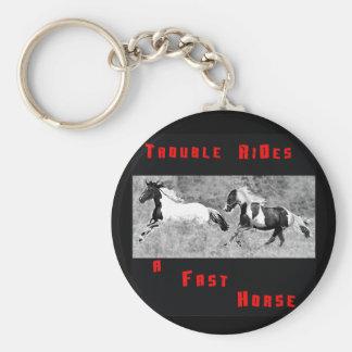 Cowboy Humor Keychain