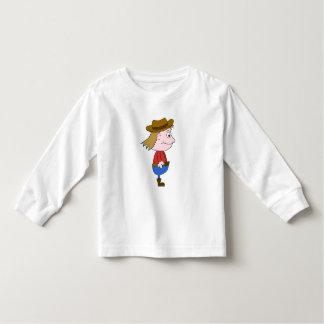 Cowboy illustration. toddler t-shirt