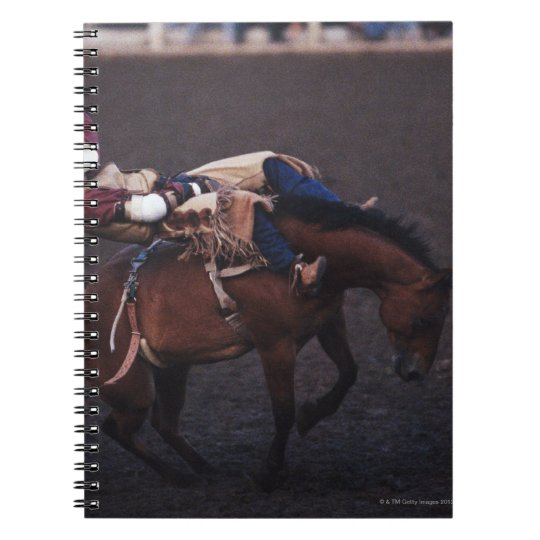 Cowboy in a Rodeo 2 Spiral Notebook