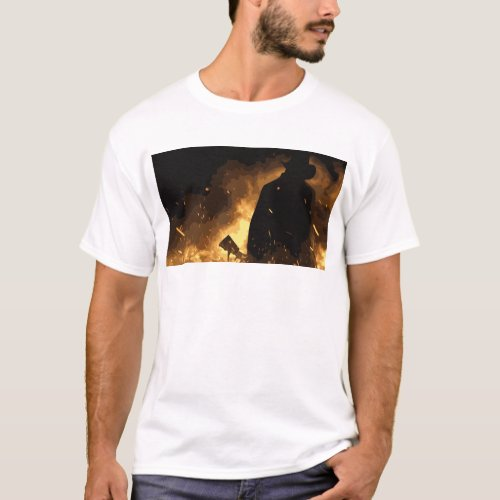 Cowboy in Flames T_Shirt