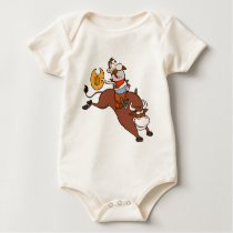 Cowboy In Rodeo Baby Bodysuit