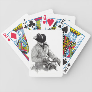 Cowboy in Saddle: Realism Pencil Drawing, Art Bicycle Playing Cards