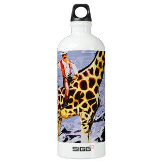 cowboy in space water bottle