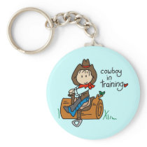 Cowboy in Training Tshirts and Gifts Keychain