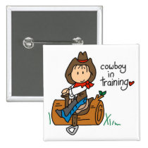 Cowboy in Training Tshirts and Gifts Pinback Button