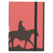Cowboy ipad air case, red sunset horses wild case for iPad air