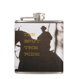 Cowboy-It's Bout The Ride Hip Flasks