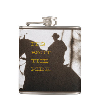 Cowboy It's Bout The Ride Hip Flask