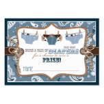 Cowboy Jeans and Chaps Diaper Raffle Ticket Large Business Cards (Pack Of 100)