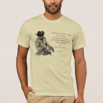 COWBOY: JOHN 3:16: Bible: Pencil Art T-Shirt