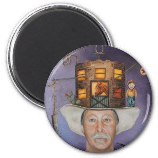 cowboy Karl 2 Inch Round Magnet