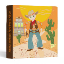 Cowboy kid birthday party binder