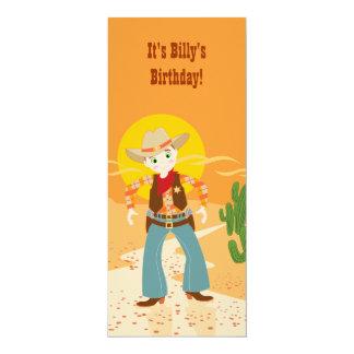 Cowboy kid birthday party card