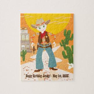 Cowboy kid birthday party jigsaw puzzle