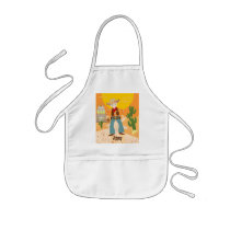 Cowboy kid birthday party kids' apron