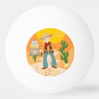 Cowboy kid birthday party Ping-Pong ball