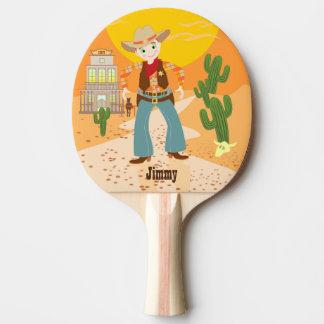 Cowboy kid birthday party Ping-Pong paddle