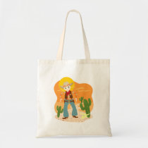 Cowboy kid birthday party tote bag