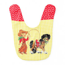 Cowboy Kid Horse and Rope Western Bib