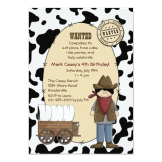 Cowboy Kid Invitation