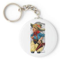 Cowboy Kid Keychain