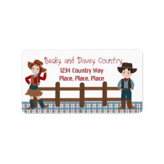 Cowboy Kids Label