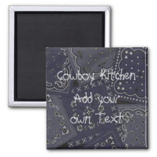 Cowboy Kitchen Bandana Fridge Magnet