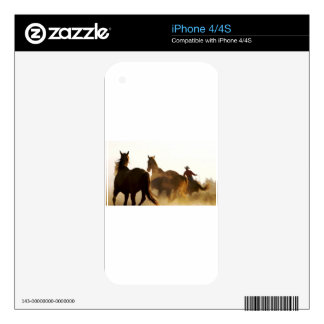 cowboy lasso horse iPhone 4S decal