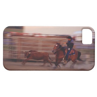 Cowboy lassoing bull iPhone 5 covers