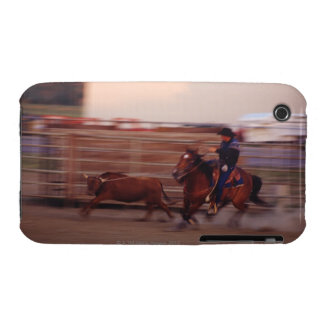 Cowboy lassoing bull iPhone 3 cover