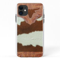 Cowboy Leather and Cowhide iPhone 11 Case