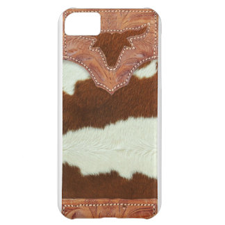 Cowboy Leather and Cowhide iPhone 5C Cover