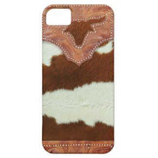 Cowboy Leather and Cowhide iPhone SE/5/5s Case
