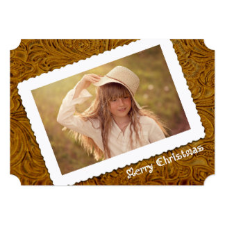 Cowboy Leather Holiday Greeting Card