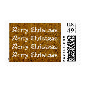 Cowboy Leather Holiday Greeting Postage