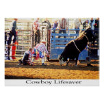 Cowboy Lifesaver Print