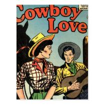 Cowboy Love Postcard