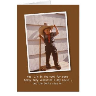 Cowboy Lovin' Valentine Card