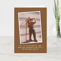 Cowboy Lovin' Valentine Holiday Card
