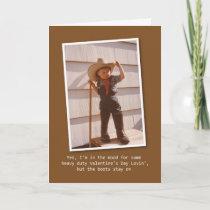 Cowboy Lovin' Valentine Holiday Card