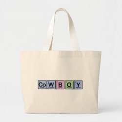 Jumbo Tote Bag with Cowboy design