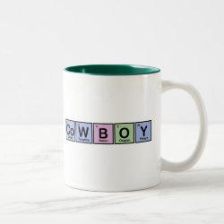 Two-Tone Mug with Cowboy design